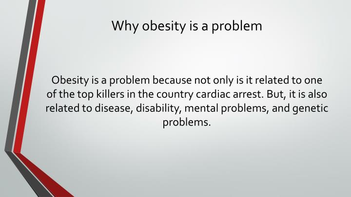 Why obesity is a problem