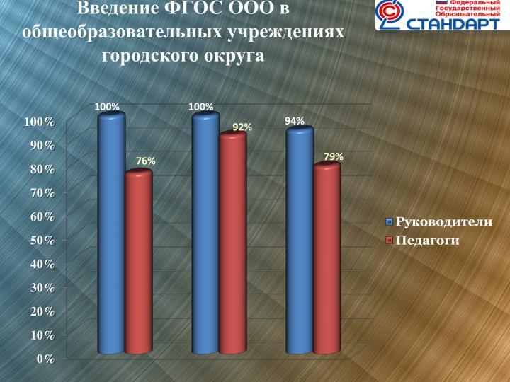 Введение ФГОС ООО в общеобразовательных учреждениях городского округа