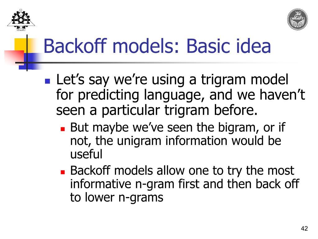 Trigram Model Nlp