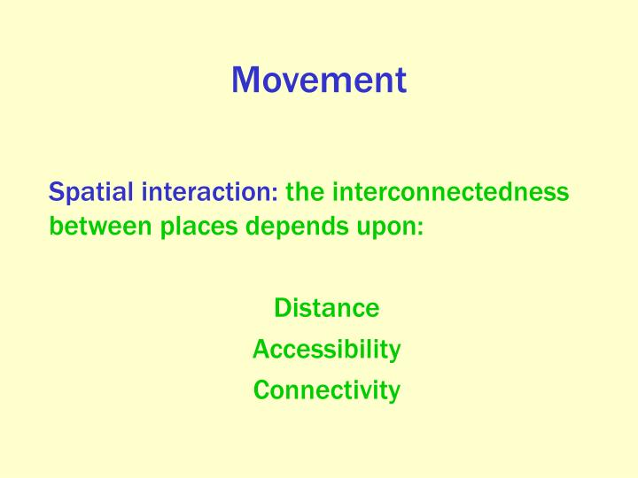 Spatial interaction: