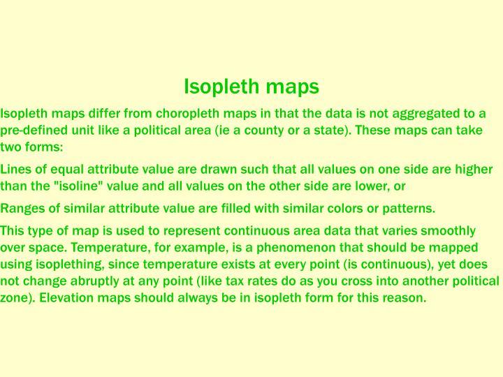 Isopleth maps