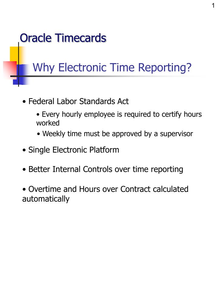 why electronic time reporting n.