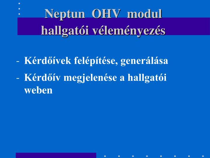 Neptun  OHV  modul