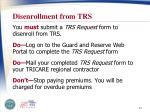 disenrollment from trs