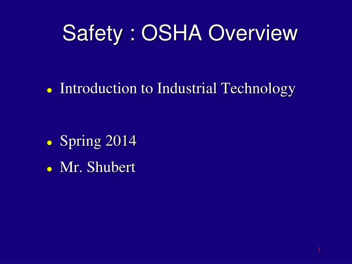 safety osha overview n.
