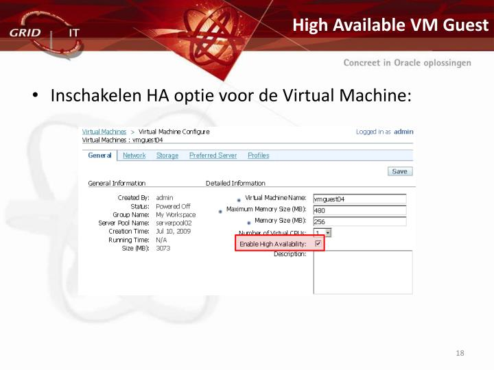 High Available VM Guest
