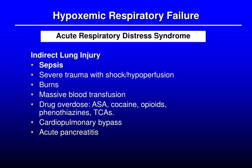 PPT - Acute Respiratory Failure PowerPoint Presentation - ID