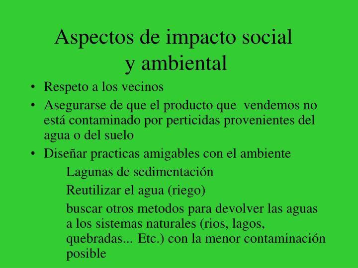 Aspectos de impacto social