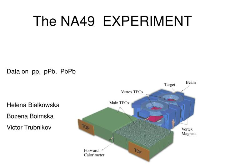 The NA49  EXPERIMENT