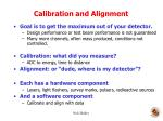calibration and alignment