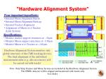 hardware alignment system
