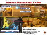 testbeam measurements at cern sps