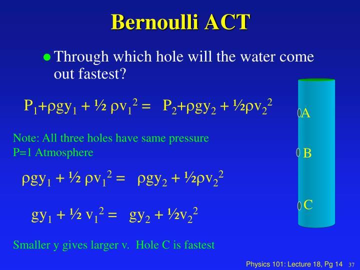 Bernoulli ACT