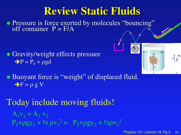 Review static fluids