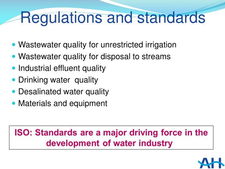 Regulations and standards