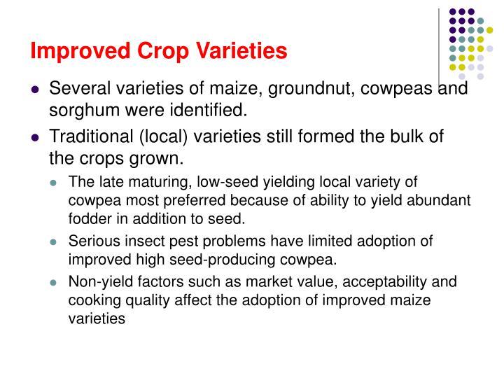 Improved Crop Varieties