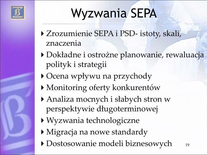 Wyzwania SEPA