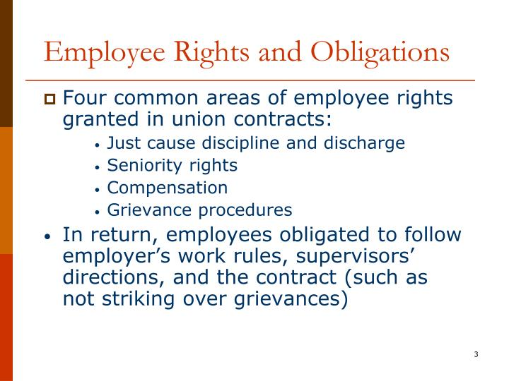 Employee rights and obligations