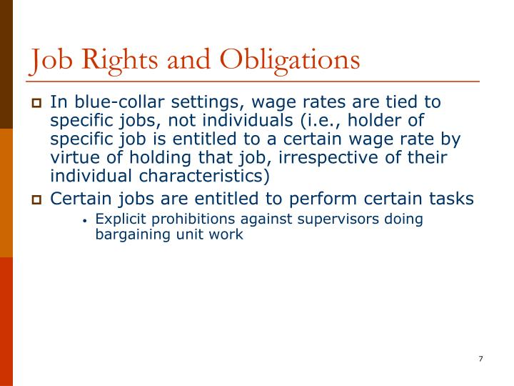 Job Rights and Obligations
