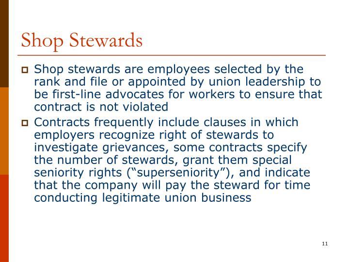 Shop Stewards