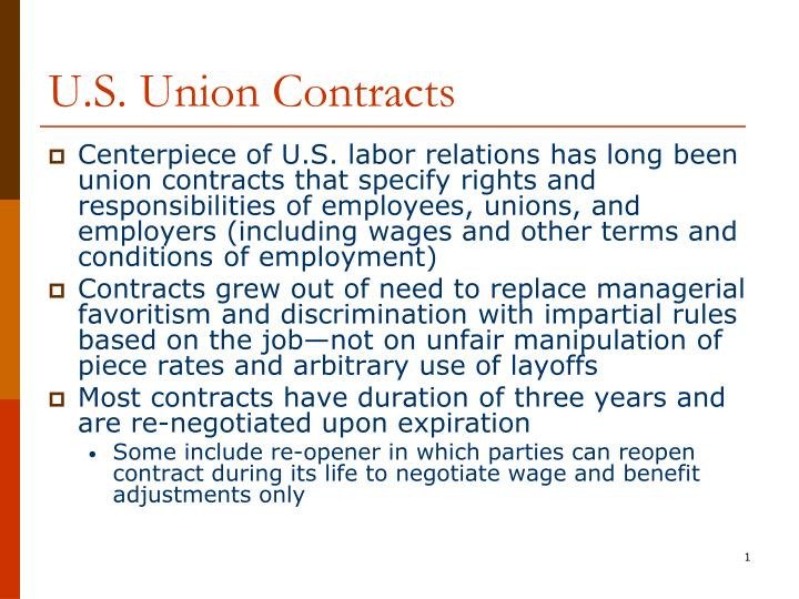 u s union contracts n.