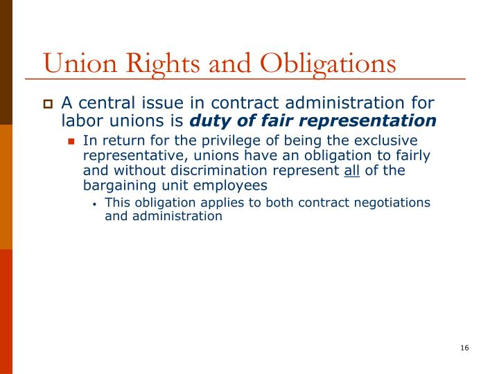 Union Rights and Obligations