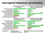 interregional imbalances and innovation