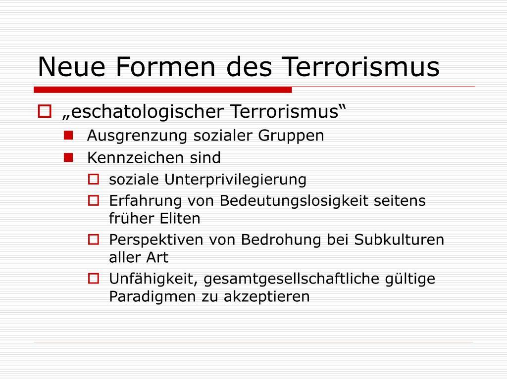 Formen Von Terrorismus