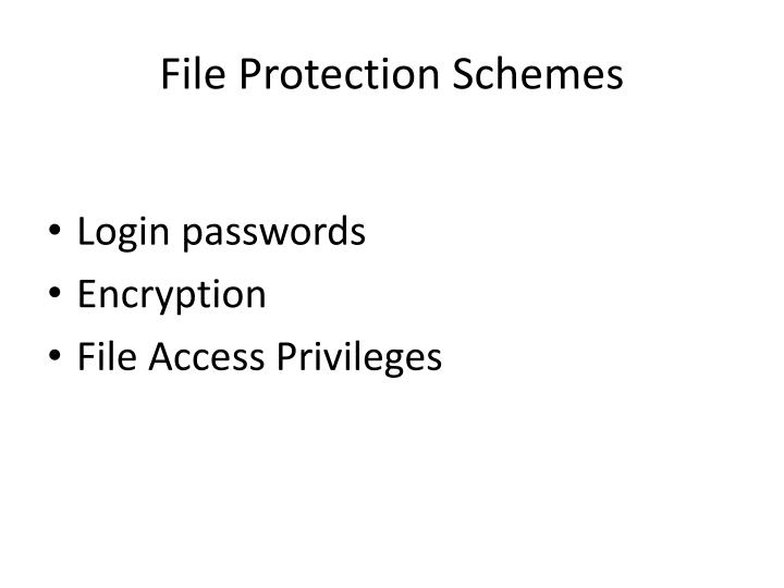 File protection schemes