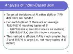 analysis of index based join