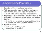 laws involving projections