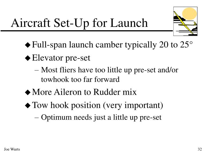 Aircraft Set-Up for Launch