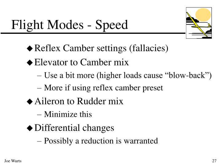Flight Modes - Speed
