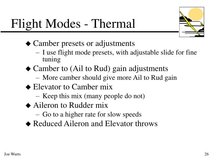 Flight Modes - Thermal