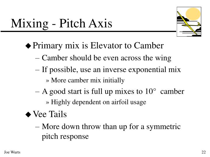 Mixing - Pitch Axis