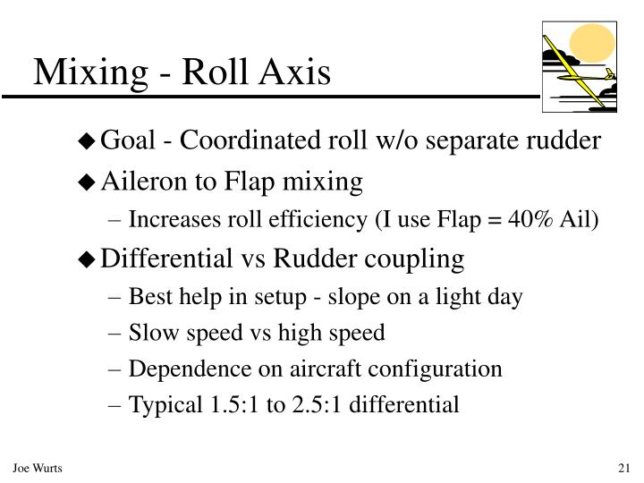Mixing - Roll Axis