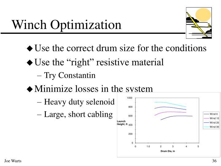 Winch Optimization