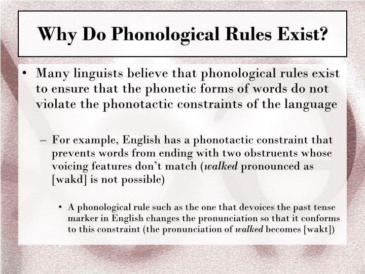 phonological rules in english