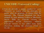 unicode universal coding