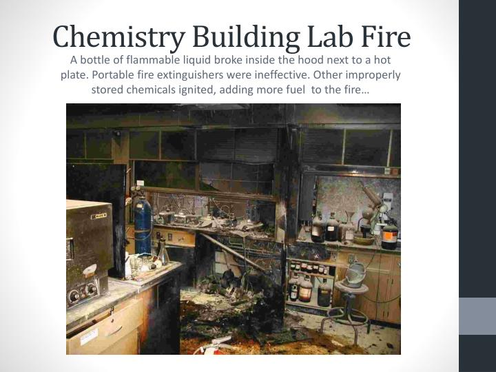 Chemistry Building Lab Fire