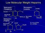 low molecular weight heparins