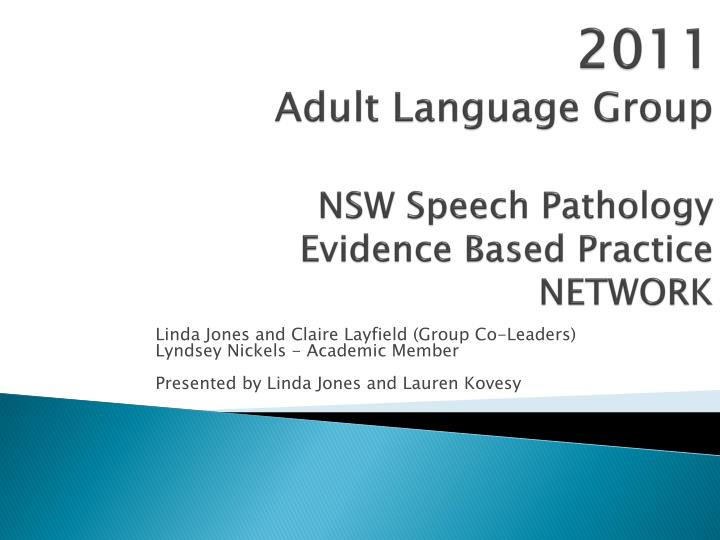 a study to provide understanding of speech pathologists conceptualization of evidence based practice