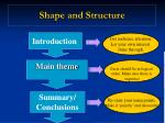 shape and structure