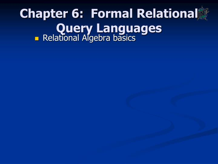 chapter 6 formal relational query languages n.