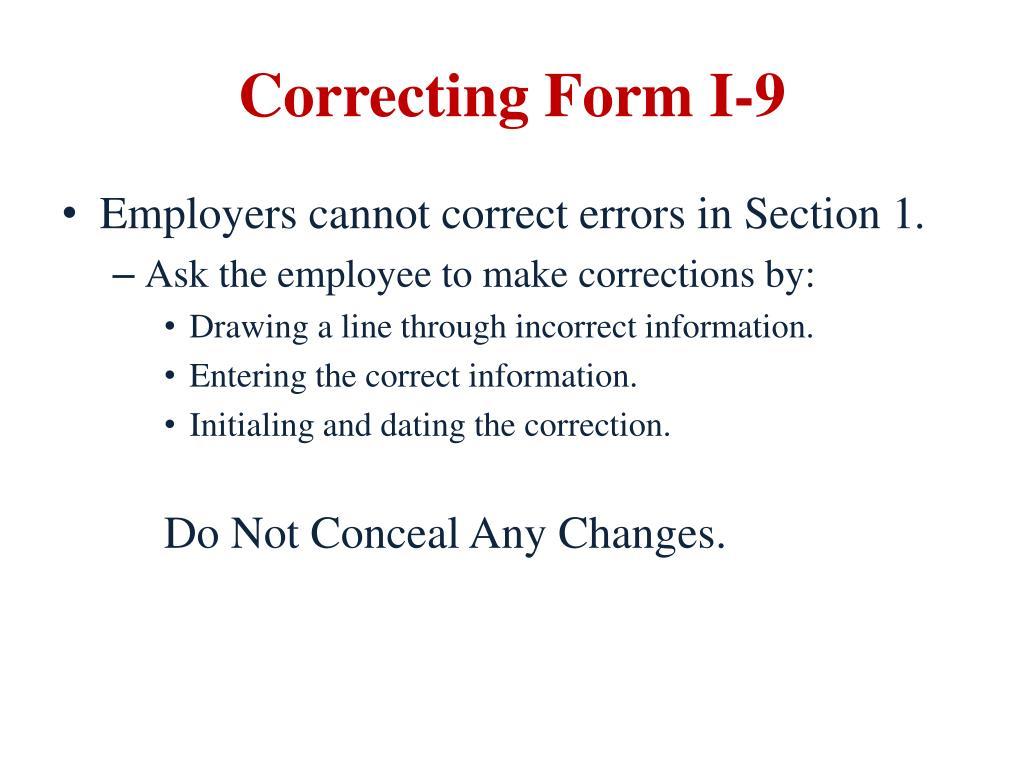 form i-9 corrections  PPT - E-Verify PowerPoint Presentation - ID:14
