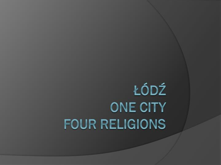 d one city four religions n.