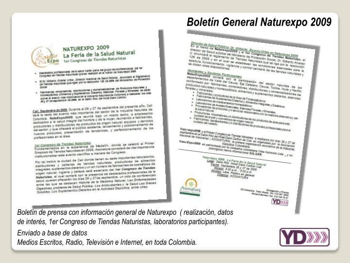 Boletín General Naturexpo 2009