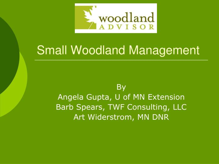 small woodland management n.
