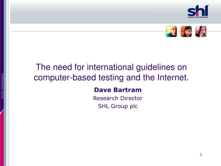 the need for international guidelines on computer based testing and the internet n.