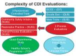 complexity of cdi evaluations